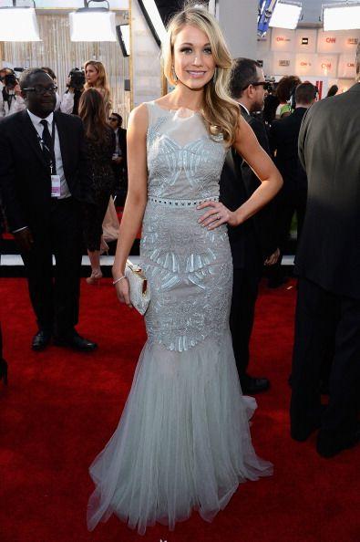 Katrina Bowden in Badgley Mischka Spring 2013 (modified) at the 2013 SAG Awards