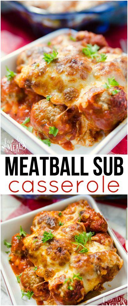 Meatball Sub Casserole Recipe - Family Fresh Meals yummy recipe