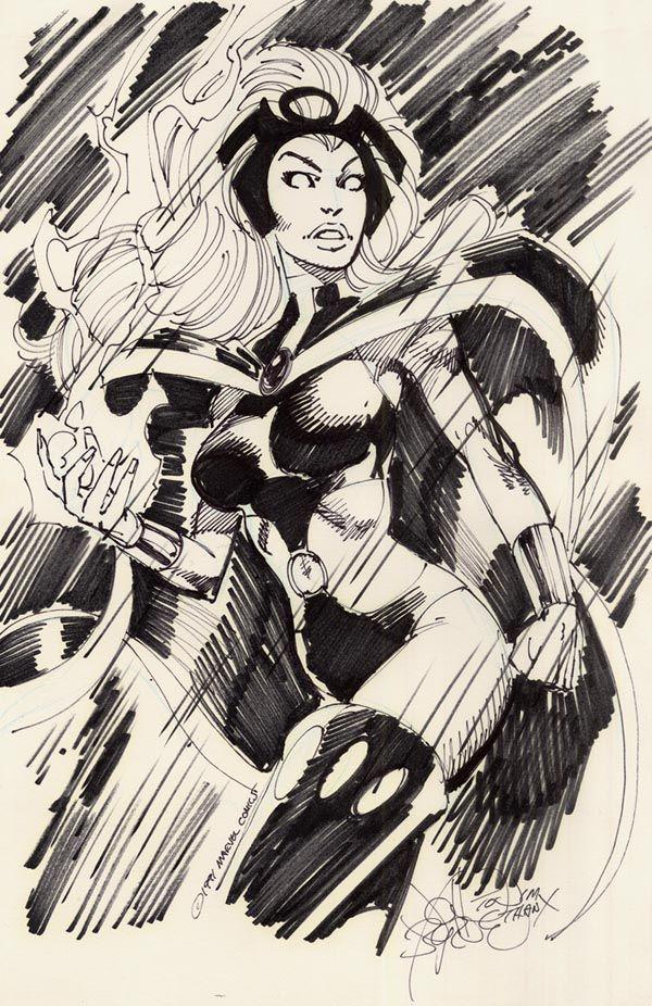 "johnbyrnedraws: "" Storm sketch by John Byrne. 1991. """