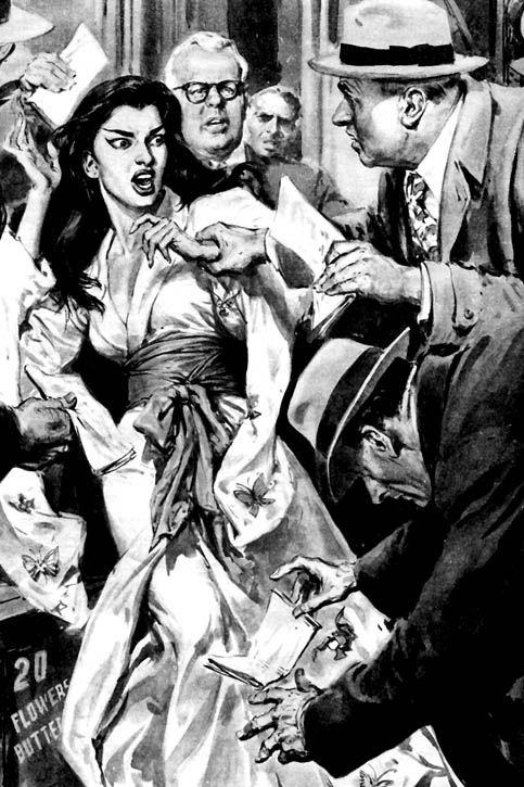 Domenica del Corriere Copertina della Domenica del Corriere del 4 Dicembre 1955 dove il famoso disegnatore Walter Molino illustra la notifica della citazione alla Callas a Chicago