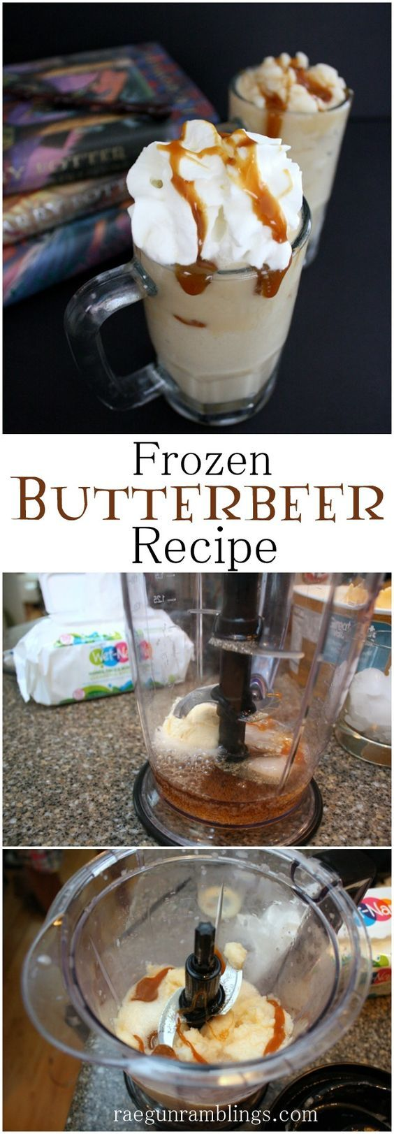 Delicious Frozen Butterbeer recipe just like Potterland - Rae Gun Ramblings: