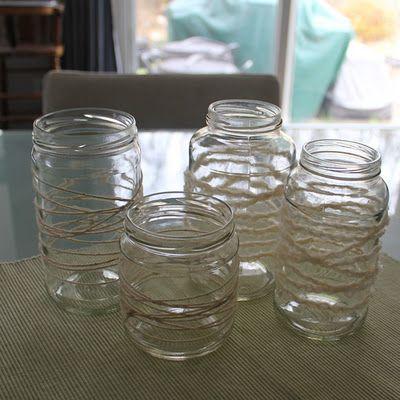 DIY Yarn Wrapped Painted Jar Lanterns | Top DIY Ideas