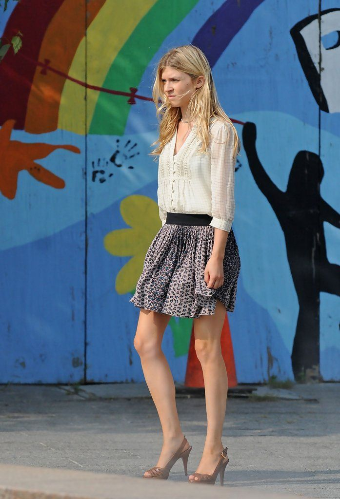 Clemence Poesy - Leighton Meester and Clemence Posey Film Gossip Girl