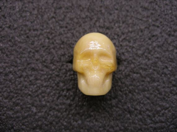 Murano Glass skull ring by GLBriflessi on Etsy, $22.00