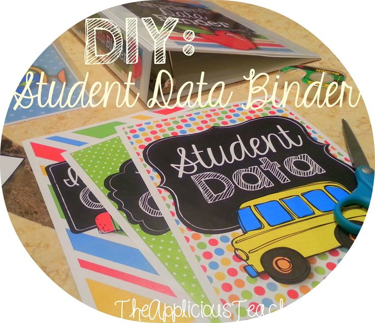 DIY: Student Data Binder. Stay organized and on top of your student data with a Student Data Binder this year. #newteachers #backtoschool