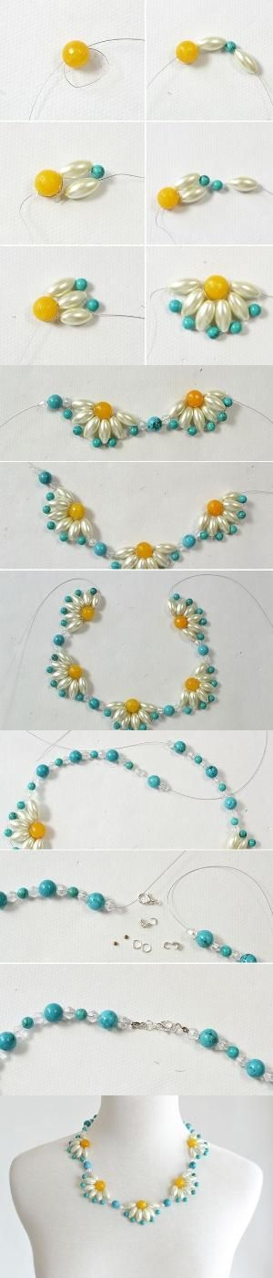 Tutorial - How to DIY a Flower Choker Necklace Step by Step from LC.Pandahall.com   Jewelry Making Tutorials & Tips 2   Pinterest by Jersica