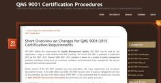 ISO 9001 defines the requirements for Quality Management System. ISO 9001 can be used by any organization. Revised QMS 9001: 2015 standard is based on a number of quality management principles including a strong focus on customers, motivation and involvement of top management, the process approach and continual improvement.