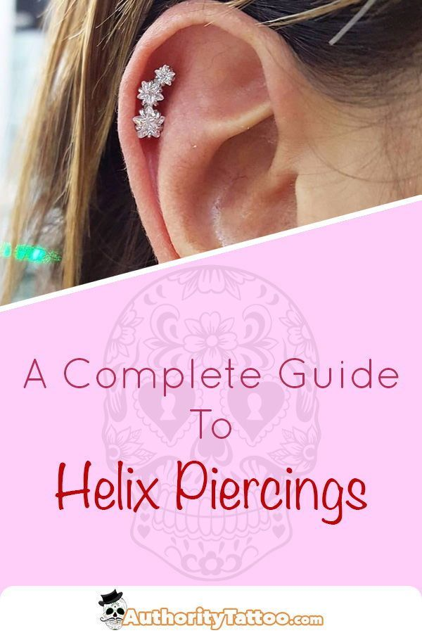 f1569dbd7 Everything you need to know about helix piercings, including: Pain,  Aftercare, Healing Times, Risks, Infections, Jewellery & Example Images.