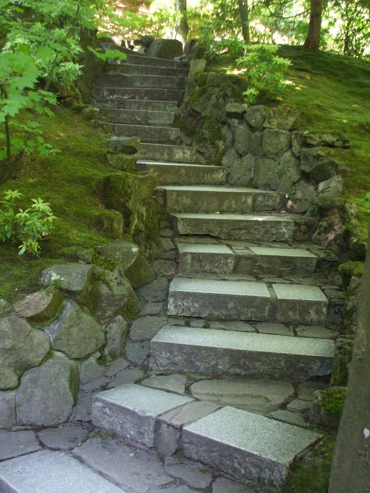 Japanese Garden Portland Oregon Stairs Steps