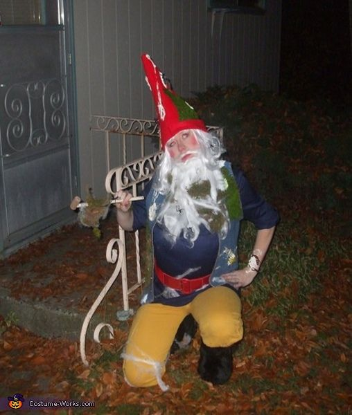 Mossy Yard Gnome covered in Bird Poop - Halloween Costume Contest via @costumeworks