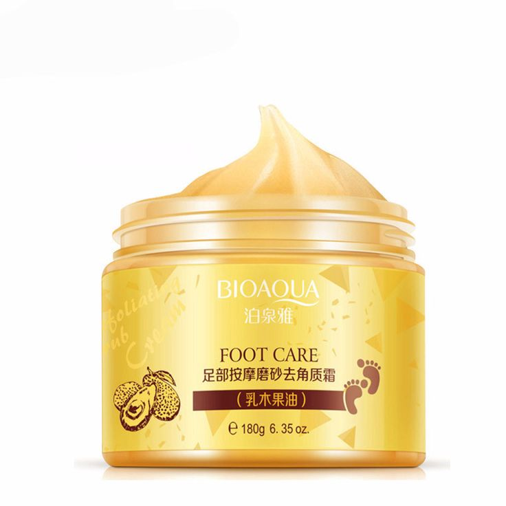Exfoliating scrub for smooth foot care