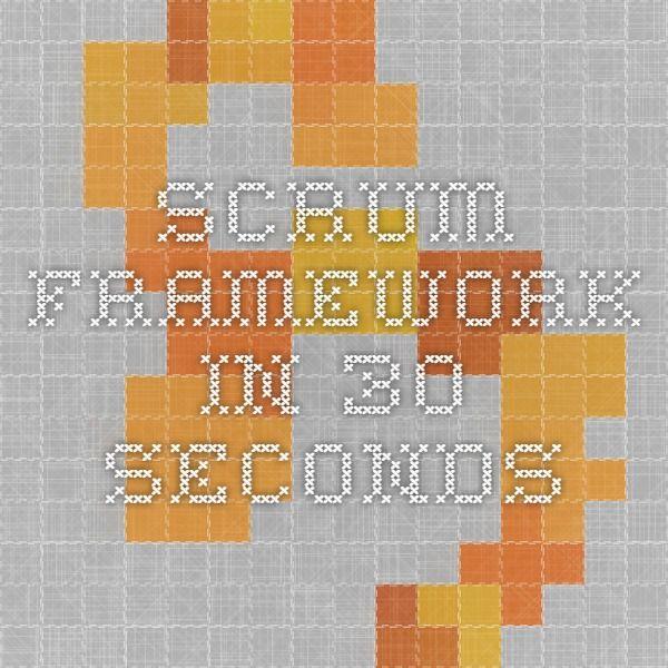 Scrum Framework in 30 seconds