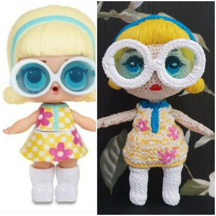 Кукла ЛОЛ связана крючком   Куклы, Работы, Крючки