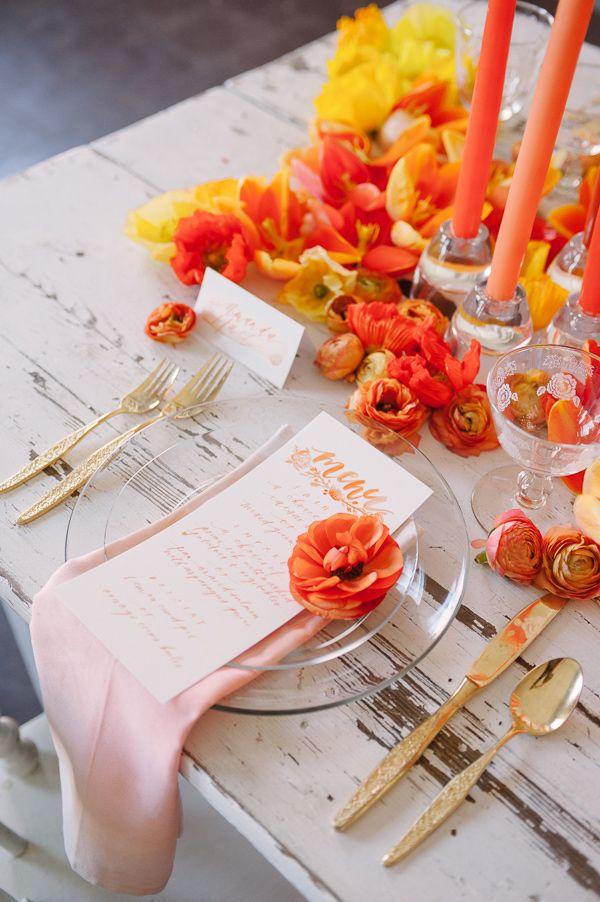 107 best orange weddings images on pinterest orange weddings diy watercolor napkins junglespirit Gallery