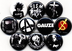 Japanese Punk Rock/Hardcore pins, love the GISM!
