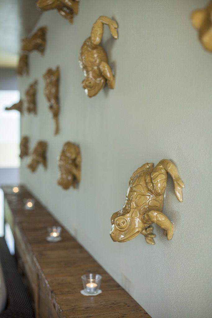 Frogs jumping everywhere....even on the walls #interiordesign #hotelamadechateu #slovakia