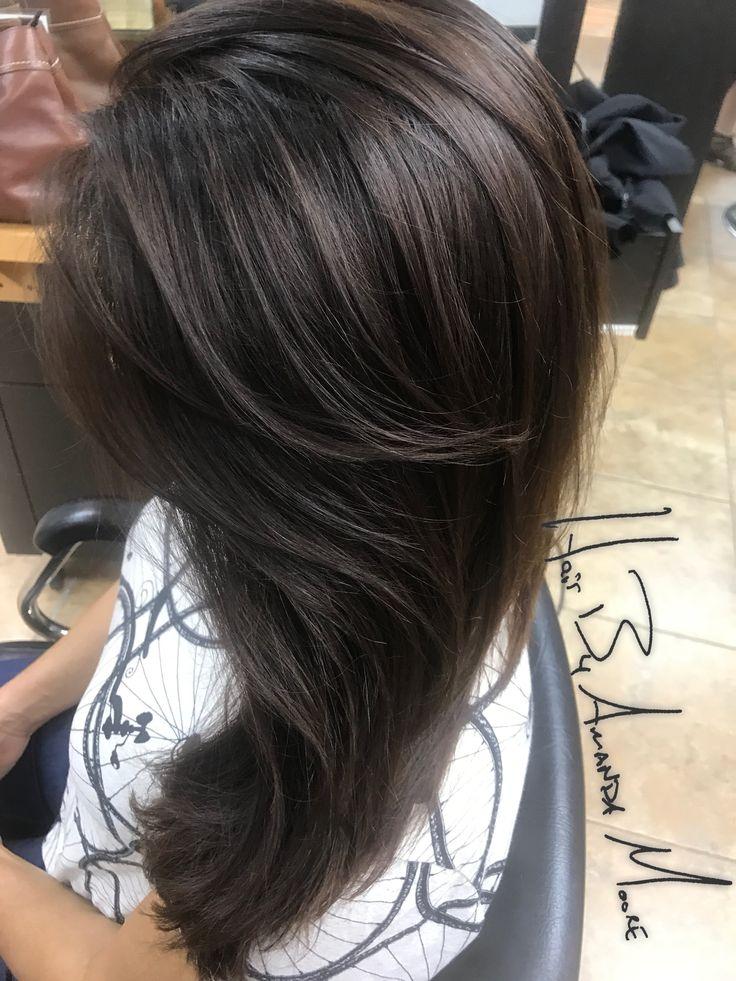 Dark Brown Hair Light Brown Ends