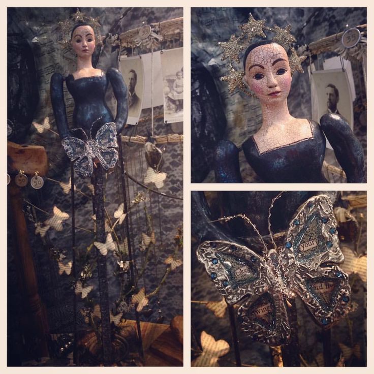 A Day In The Life Of A Jewelry Muse — This santos doll has a flock of butterflies...
