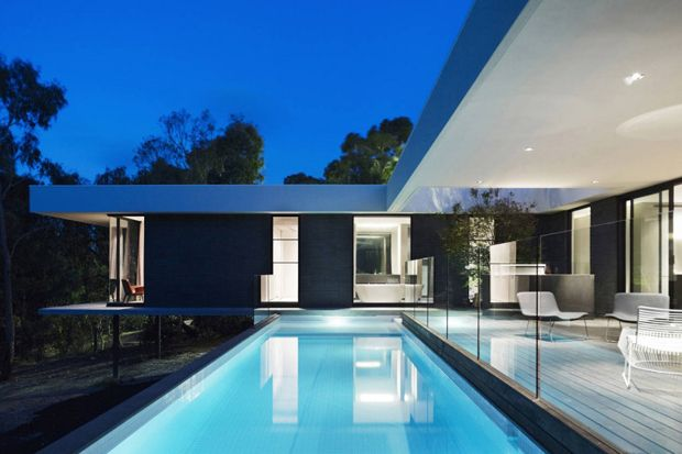 A-G House by dKO Architecture: Lap Pools, A G House, Melbourne Australia, Glasses Panels, Swim Pools, Ag House, Dko Architecture, Outdoor Design, Pools Design
