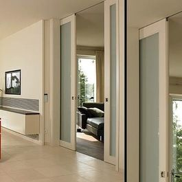 Double Pocket Door Concealed Ceiling Track B46 Modern