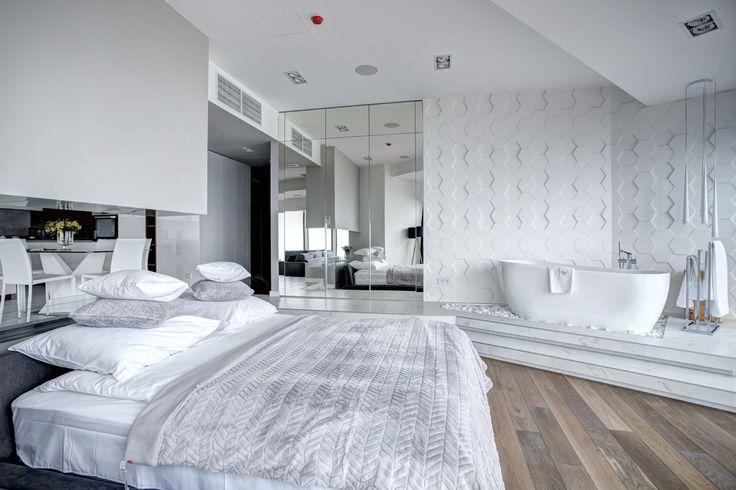 Apartament w bieli  na 33. piętrze SKY TOWER  #Wroclaw #Wroclove #SkyTower #apartamenty #wnętrza #interiors #design