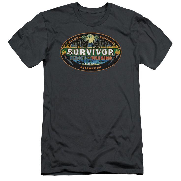 Survivor Heroes vs. Villains Charcoal Fine Jersey T-Shirt