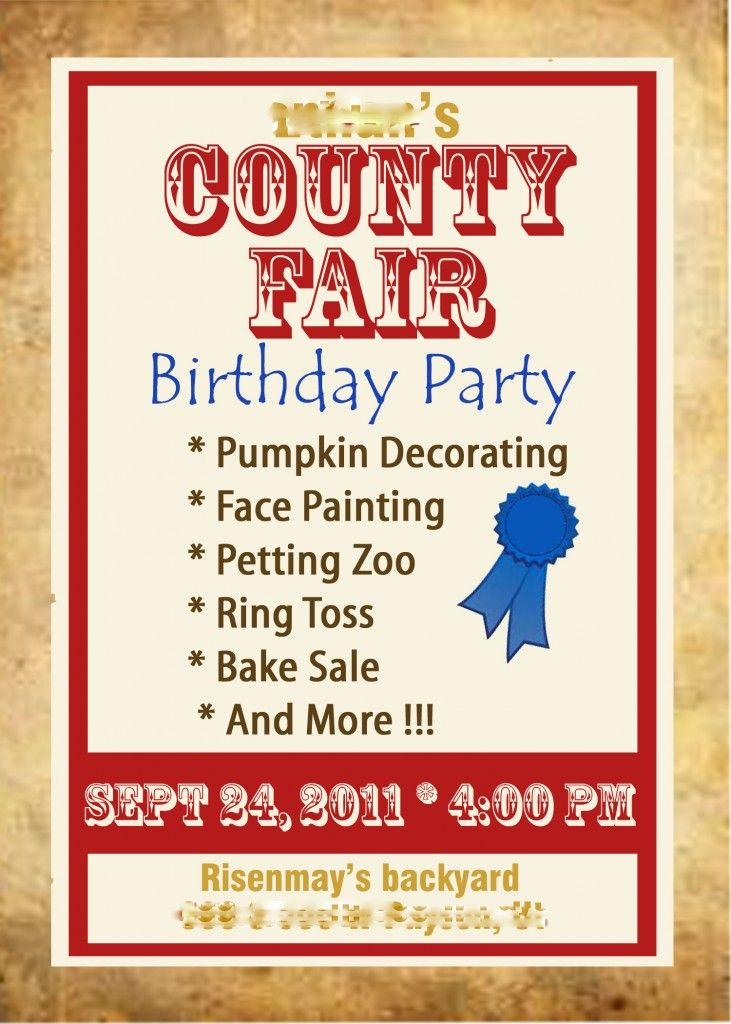 County Fair Birthday Party!! Looks like fun for a little boy party!!!