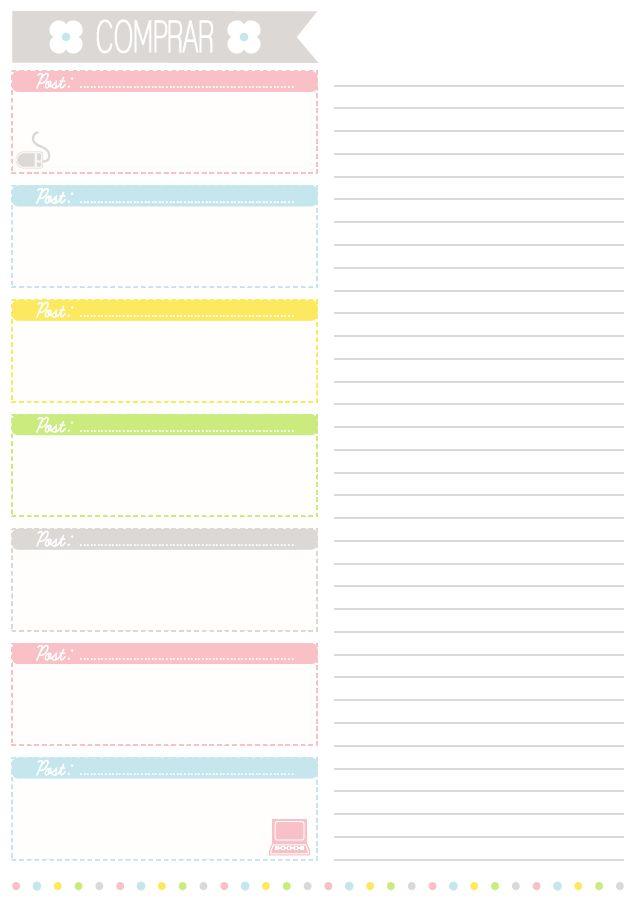 """""""Lista de cosas a comprar"""" imprimible de regalo - Personalización de Blogs   Tutoriales blogger, trucos blog..."""