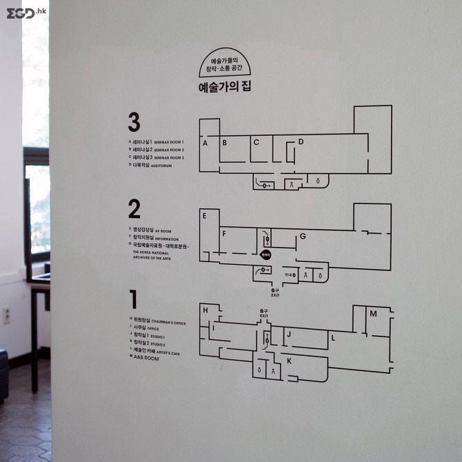 signage system for 'Artist's House' © 首尔FNT工作室