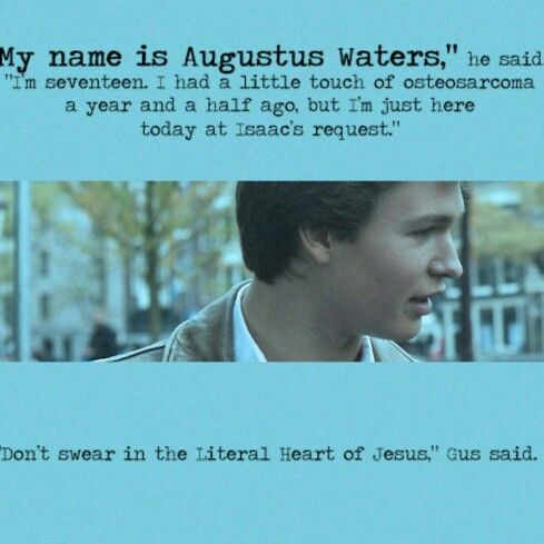 *SPOILERS* First and last (on page) words of Augustus Waters // and the crying commenses.