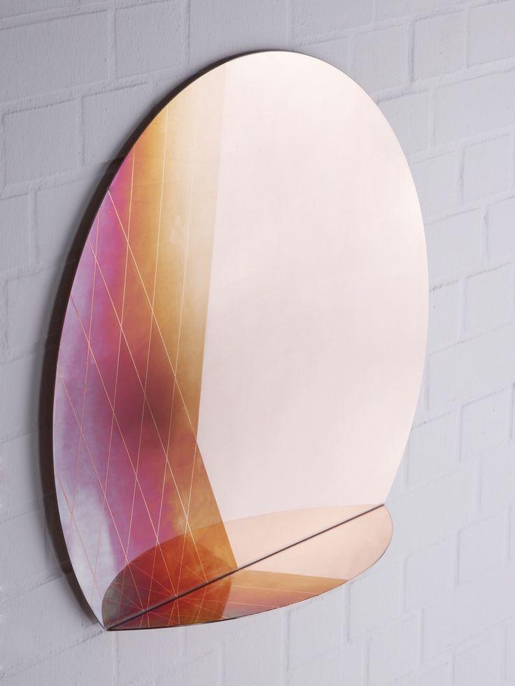 Iridescent Copper mirror by Studio Besau Marguerre.