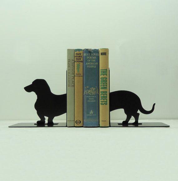 Dachshund Wiener Dog Metal Art Bookends  by KnobCreekMetalArts, $46.99