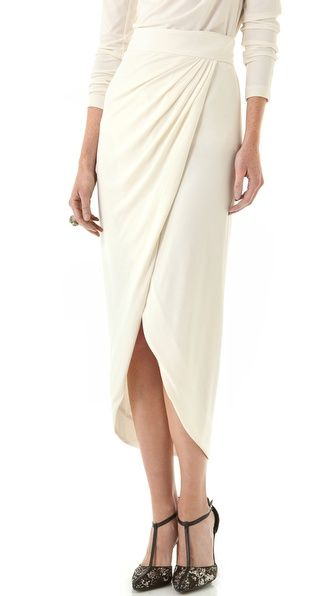 Rachel Zoe Abbey Wrap Maxi Skirt. The bow in the back is to die for.