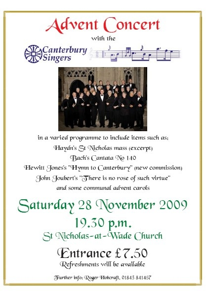 Advent Concert with the Canterbury Singers, November 2009