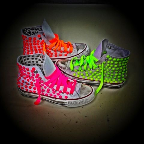 Fluo: Shoes Neon, Neon Studded, Converse Shoes, Allstar Neon, Neon Shoes, Neon Converse