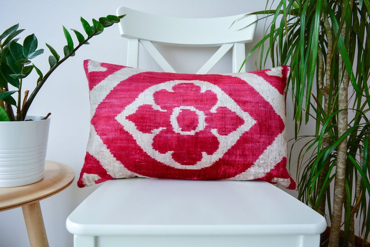 Excited to share the latest addition to my #etsy shop: velvet pink ikat pillow cover, ikat pillow cover, pink pillow, boho pillow, throw pillow, bohemian pillow, cushion cover, pink velvet http://etsy.me/2DLV92d #housewares #pillow #rectangle #velvet #no #coveronly #ve
