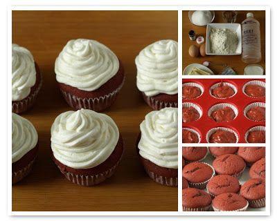 CHEZ LUCIE: Red velvet cupcakes