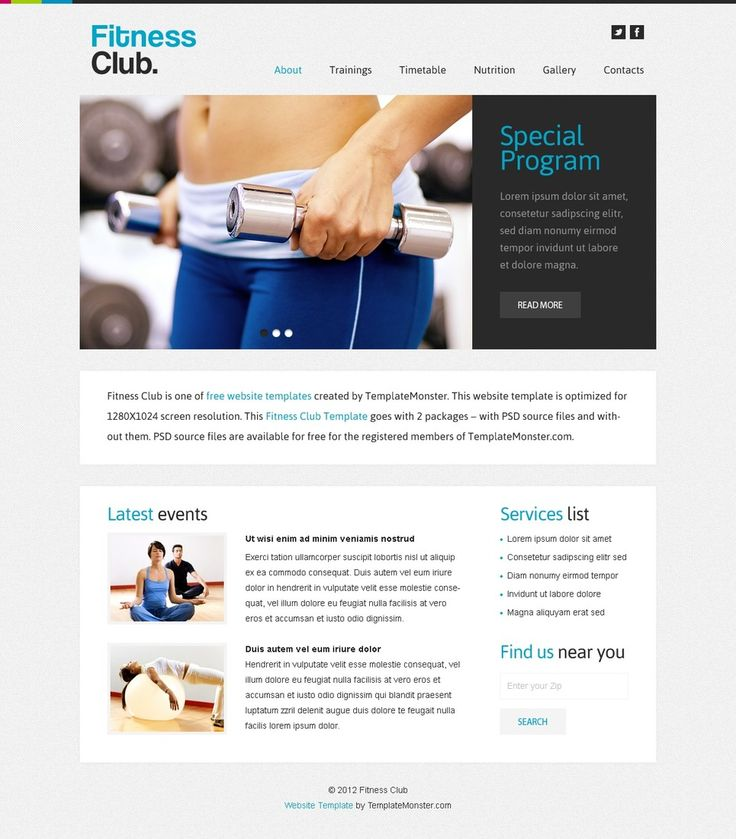 190 best Free Templates images on Pinterest Design websites - fitness templates free