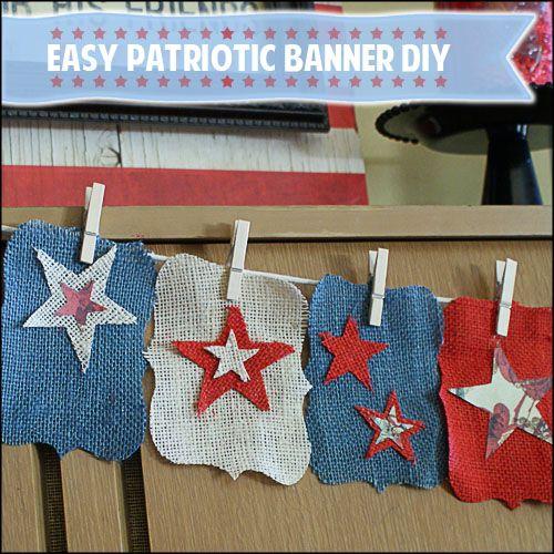 Patriotic Banner DIY tutorial.