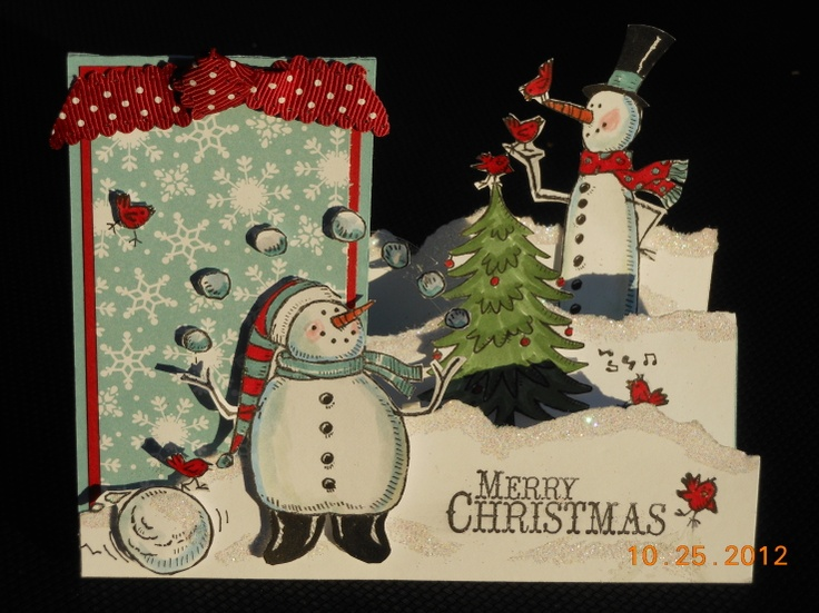 SNOW MUCH FUN side-step card byRenee Coburn inspired by Kinberly Lewis.