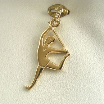 Buy our Australian made Gymnast Charm - chr-2884 online. Explore our range of custom made chain jewellery, rings, pendants, earrings and charms.