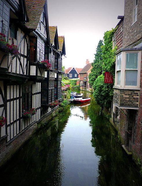 Canal, Canterbury, England. Our tips for 25 fun things to do in England: http://www.europealacarte.co.uk/blog/2011/08/18/what-to-do-england/