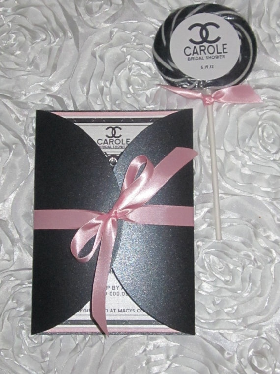 The 482 best coco chanel theme images on pinterest chanel wedding chanel inspired bridal shower invitation by thecoutureinvitediva 495 filmwisefo