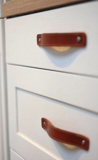 complete kitchen with handles - Google Search - Leather kitchen pulls bring a certain sophistication to your kitchen, find similar here - http://www.handles4u.co.uk/products/Cabinet+Door+Handles+and+Knobs