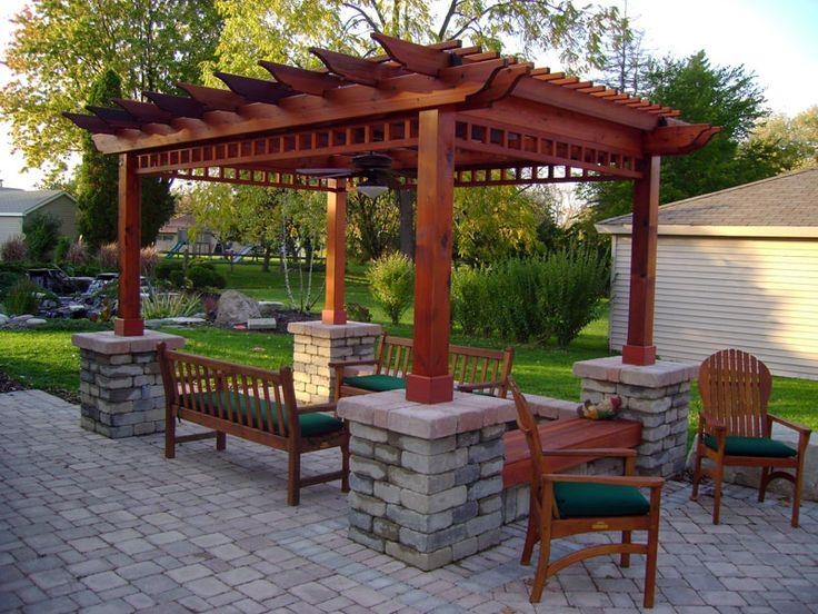 229 best Pergola + backyard ideas images on Pinterest Backyard - garden arbor plans designs
