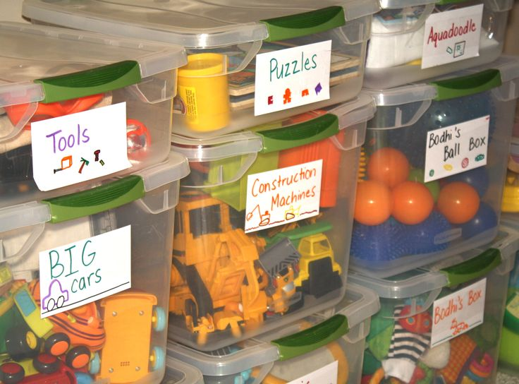 Clear Stackable Bins. Storage Bins For ToysToy ...