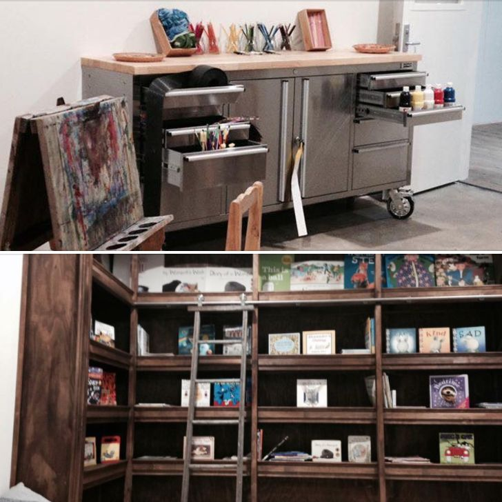 What a fabulous set up for painting & reading over at Kids Capers Childcare - Clayfield! https://www.facebook.com/caperschildcareclayfield