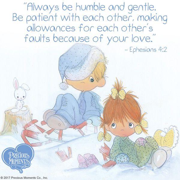Love is patient!  #PreciousMoments #LifesPreciousMoments #BePatient #Love