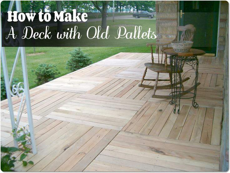 81 best garden crafts images on pinterest good ideas for Garden decking using pallets