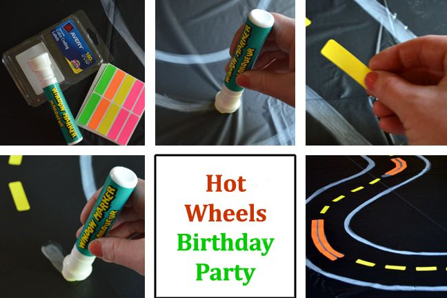 Hot Wheels #birthday party for #boys. Make a tabletop race track!
